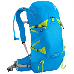 camelbak pursuit 24 lr hydration pack - 100 fl.oz.- Save 33% Off - CLOSEOUTS . Designed with a unique Antidote lumbar reservoir, CamelBakand#39;s Pursuit 24 LR hydration pack shifts the weight of your water from your back to your hips -- not only improving stability, but saving your back from weight and strain. Coupled with the breathable, super-supportive mesh back panel and load-bearing waistbelt, this could very well be the most comfortable hydration pack youand#39;ve ever worn! Available Colors: GUNMETAL/LIME PUNCH, TAHOE BLUE/LIME PUNCH.