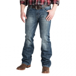 Image of Rock and Roll Cowboy Double Barrel Low-Rise Jeans - Relaxed Fit, Straight Leg (For Men)