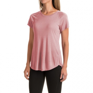 the north face nueva t-shirt - short sleeve (for women)- Save 37% Off - CLOSEOUTS . Unbelievably light and mega comfortable, The North Faceand#39;s Nueva T-shirt features silky-soft modal fabric for breathability, flatlock seams to reduce skin irritation and raglan sleeves for optimal freedom of movement during your workout. Available Colors: MOONLIGHT IVORY HEATHER, BALSAM GREEN, RENAISSANCE ROSE, CALYPSO CORAL HEATHER, MELON RED. Sizes: L, M, S, XL.