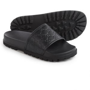 Image of Gucci Signature Slide Sandals - Leather (For Men)