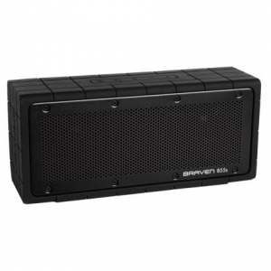 braven 855s portable wireless bluetooth(r) speaker- Save 47% Off - CLOSEOUTS . Just 10 inches long and four inches tall, the Braven 855S portable wireless Bluetoothand#174; speaker delivers huge sound in loud living rooms and on patio decks for up to 20 hours of fun. Use your phone, a tablet or a sound system -- this speaker brings your music to life! Available Colors: BLACK/BLACK, BLACK/GRAY, BLACK/YELLOW.