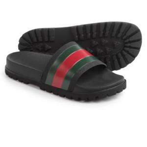 Image of Gucci Web Slide Sandals (For Men)