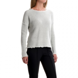 Image of 525 America Boxy Shaker Sweater - Cropped Length (For Women)