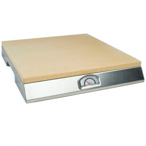Image of Pizzacraft Pizza Stone Grill with Thermometer