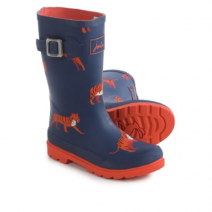 Image of Joules Navy Tiger Rain Boots - Waterproof (For Little and Big Boys)