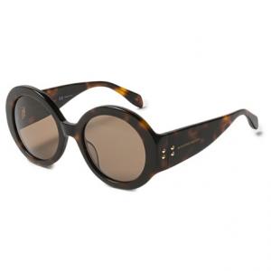 Image of Alexander McQueen Round Tortoise Sunglasses (For Women)