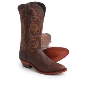 Image of Justin Boots Bordo Moro Buffalo Cowboy Boots - 13?, J-Toe (For Men)