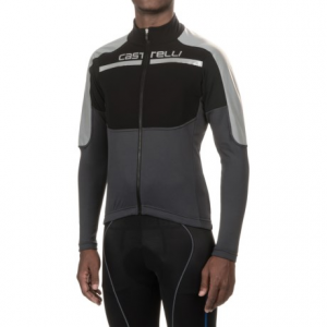Image of Castelli Secondo Strato Reflex Cycling Jersey - Full Zip, Long Sleeve (For Men)