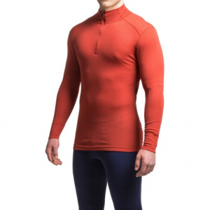Image of Ibex Woolies 1 Base Layer Top - Merino Wool, Zip Neck, Long Sleeve (For Men)