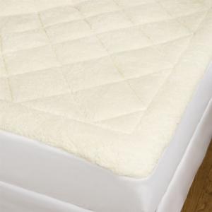 Image of Home Fashions Astor Decor Sherpa/Seersucker All-Season Mattress Pad - Queen, Reversible