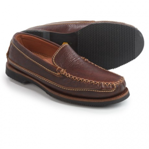 Image of Chippewa American Bison Leather Loafers - Slip-Ons (For Men)