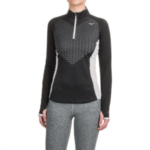 mizuno breath thermo(r) double-knit shirt - zip neck (for women)- Save 53% Off - CLOSEOUTS . Fantastically light and breathable, yet surprisingly warm, this Mizuno Double-Knit shirt employs innovative Breath Thermoand#174; technology to keep you comfortable in all sorts of weather conditions, either on its own or as part of a layering system. Available Colors: BLUE SAPPHIRE, BLUE RASPBERRY, MULBERRY PURPLE, BLACK/GLACIER GREY. Sizes: S, M, L, XL, 2XL.