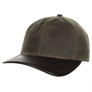 Image of Filson Tin Cloth Leather Baseball Cap (For Men)