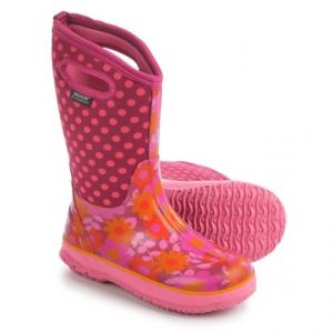 Image of Bogs Flower Dots Rain Boots - Waterproof, Rubber, Neoprene (For Big Girls)