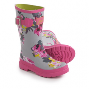 Image of Joules Grey Bloom Rain Boots - Waterproof (For Little and Big Girls)