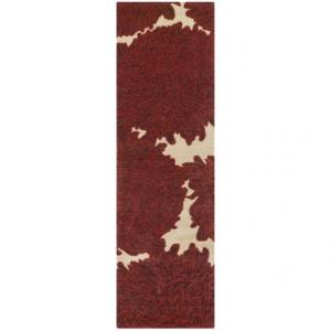 Image of Martha Stewart Floral Floor Runner - Hand-Tufted Wool, 2?3?x8?