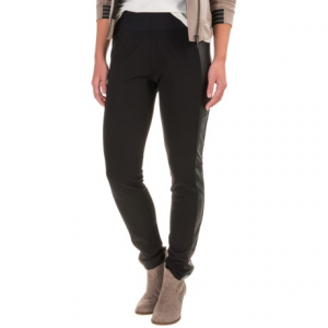 Image of Foxcroft Techno Faux-Leather Paneled Leggings (For Women)