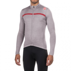 Image of Castelli Costante Cycling Jersey - Full Zip, Merino Wool, Long Sleeve (For Men)