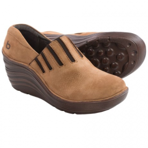 Image of Bionica Coast Wedge Clogs - Leather (For Women)