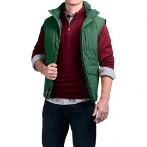 Image of Southern Proper Quilted Varsity Vest - Insulated (For Men)