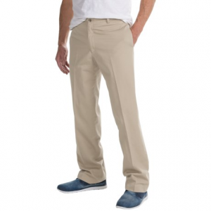 Image of Charleston Khaki by Berle Enzyme-Washed Pants - Flat Front (For Men)