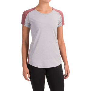 the north face dynamix t-shirt - short sleeve (for women)- Save 36% Off - CLOSEOUTS . Designed for the most-intense workouts, The North Faceand#39;s Dynamix T-shirt is knit with stretchy FlashDry-XDand#174; fibers across the shoulders and upper back for improved durability and ultimate moisture-wicking performance. Available Colors: TNF DARK GREY HEATHER/ASPHALT GREY, SUBTLE GREEN HEATHER/SUBTLE GREEN, TNF LIGHT GREY HEATHER/RENAISSANCE ROSE. Sizes: L, M, S, XL, XS.
