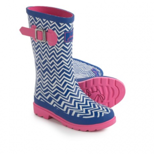 Image of Joules Blue Zigzag Rain Boots - Waterproof (For Little and Big Girls)