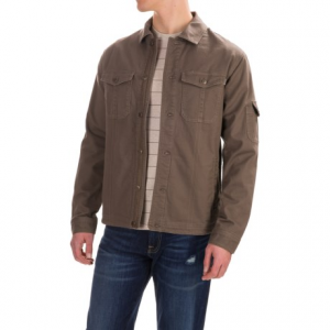 outdoor research winter deadpoint jacket - organic cotton (for men)- Save 50% Off - CLOSEOUTS . Done in a rugged, slightly stretchy cotton canvas with a soft and warm organic cotton flannel lining, this Outdoor Research Winter Deadpoint jacket is just the thing to take the chill off as you wait for your campfire coffee to brew or as you check off some springtime chores around the house. Available Colors: MUSHROOM, CHARCOAL, BLACK. Sizes: S, M, L, XL.