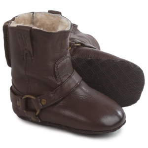Image of Small Frye Shearling Harness Booties - Leather (For Infants)