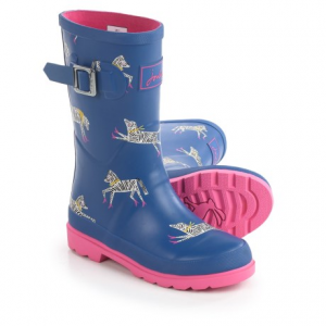 Image of Joules Zebra Rain Boots - Waterproof (For Little and Big Girls)