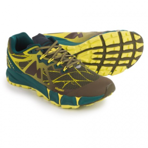 merrell agility peak flex trail running shoes (for men)- Save 46% Off - CLOSEOUTS . Merrelland#39;s Agility Peak Flex trail running shoes feature a FLEXconnectand#174; midsole to give you the agility to excel on long runs and rugged trails. The sticky, skeleton-like lugs on the M Select GRIP outsole promise durable, slip-resistant traction and stability in both wet and dry conditions on mixed terrain. Available Colors: MERRELL ORANGE, DARK OLIVE. Sizes: 7, 7.5, 8, 8.5, 9, 9.5, 10, 10.5, 11, 11.5, 12, 13, 14, 15, 5, 5.5, 6, 6.5.