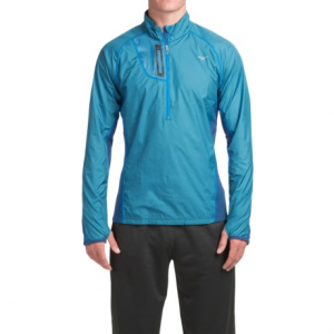 Image of Mizuno Breath Thermo Windtop Shirt - Zip Neck, Long Sleeve (For Men)