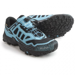 salewa ultra train gore-tex(r) trail running shoes - waterproof (for women)- Save 46% Off - CLOSEOUTS . Salewa Ultra Trail Gore-Texand#174; trail running shoes are made for mountain enthusiasts who seek serious support for on- and off-trail training. They offer highly breathable waterproof protection and have a lugged Michelinand#174; outsole designed to provide traction on firm surfaces and stability on uneven terrain. Available Colors: BLACK/BLUE. Sizes: 6, 6.5, 7, 7.5, 8, 8.5, 9, 9.5, 10.