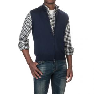 Image of Aqua by Toscano Mock Neck Sweater Vest - Full Zip (For Men)