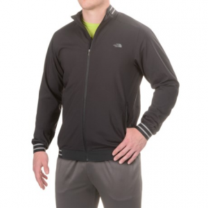 the north face rapido jacket - full zip (for men)- Save 39% Off - CLOSEOUTS . Fine tune your marathon training with The North Faceand#39;s Rapido jacket, done in lightweight, stretchy and highly wind-resistant  FlashDryand#174; fabric that wicks moisture and dries quickly. Articulated sleeves and cuffs deliver improved mobility, and the DWR finish sheds light rain. Available Colors: TNF BLACK. Sizes: L, M, S, XL.