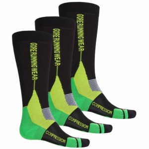 gore running wear x-run ultra running socks - 3-pack, over the calf (for men and women)- Save 41% Off - CLOSEOUTS . Gore Running Wearand#39;s X-Run Ultra running socks feature ventilating panels for temperature regulation, anatomical left and right construction for a precise fit and a stay-put design with strategically placed cushioning for happy feet mile after mile. The stretch-knit compression shaft offers gradual tension for improved performance and recovery. Available Colors: BLACK/APPLE GREEN, BLACK/GRAPHITE GREY. Sizes: S, M, L, XL.