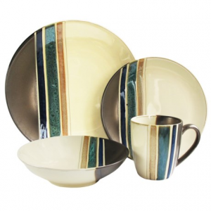 Image of American Antelier Newport Earthenware Dinnerware Set - 16-Piece