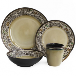 Image of American Antelier Cordoba Earthenware Dinnerware Set - 16-Piece