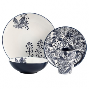 Image of American Antelier Floral Earthenware Dinnerware Set - 16-Piece