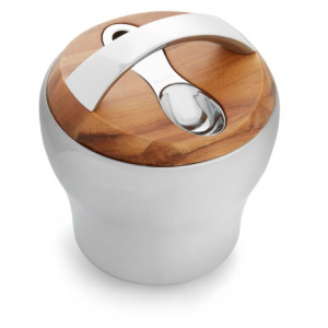 Image of Nambe Bulbo Tea Canister with Scoop