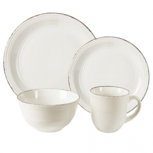 Image of American Antelier Madelyn Stoneware White Dinnerware Set - 16-Piece