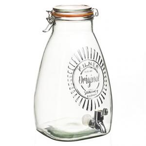 Image of Kilner Square Drink Dispenser - 8.5 qt., Glass