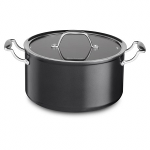 Image of KitchenAid Hard-Anodized Nonstick Low Casserole Pan with Lid - 6 qt.