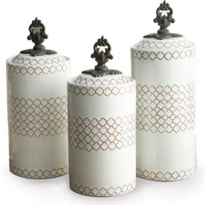Image of American Atelier Stoneware Canisters - Set of 3