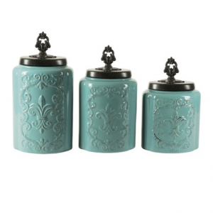 Image of American Antelier Antique Stoneware Canister Set - 3-Piece