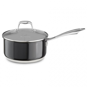 Image of KitchenAid Stainless Steel Saucepan with Lid - 3 qt.