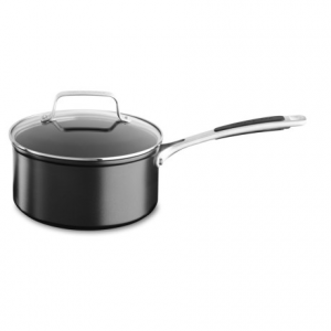 Image of KitchenAid Hard-Anodized Nonstick Saucepan with Lid - 3 qt.