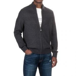 Image of Aqua by Toscano Mock Neck Sweater - Merino Wool, Full Zip (For Men)