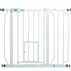 Image of Carlson Pet Products Extra-Wide Expandable Pet Gate with Small Pet Door
