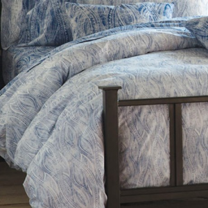 Image of Bambeco Ashbury Organic Cotton Distressed-Print Duvet Cover - King